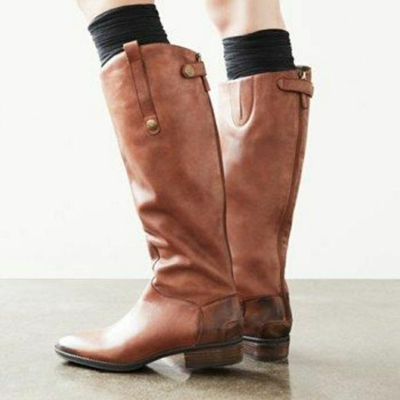 f73237ae93ea61 Sam Edelman Penny Riding Boot Whiskey Leather. M 5a88f96100450fbcacbd63c0